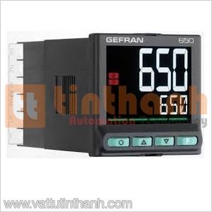 650-C-RR0-00000-1-G - Bộ điều khiển nhiệt độ 650 PID Gefran