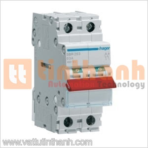SBR264 - Cầu dao cách ly (Isolating Switches) 2P 63A Hager