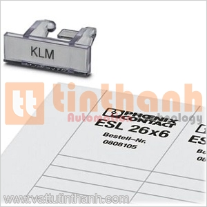 0809395 - Terminal strip marker carrier KLM + ESL 26X6 Phoenix Contact