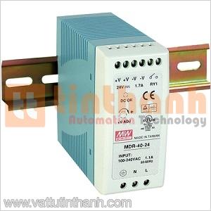 MDR-40-24 - Bộ nguồn AC-DC DIN rail 24VDC 1.7A Mean Well